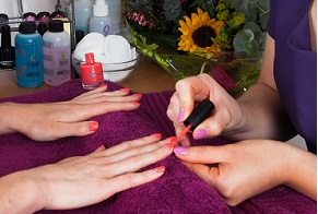 Beauty salon including hand and nail treatments